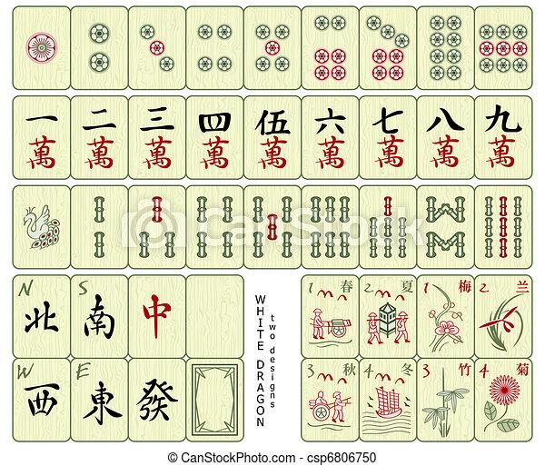 Mahjong tiles - csp6806750
