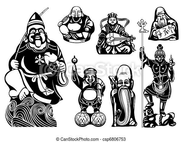 Seven Lucky Gods - csp6806753