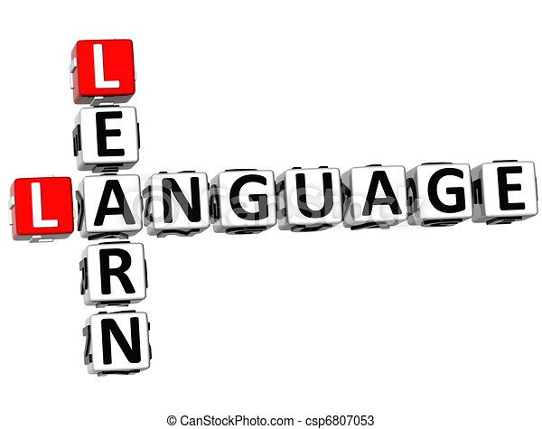 3D Learn Language Crossword - csp6807053