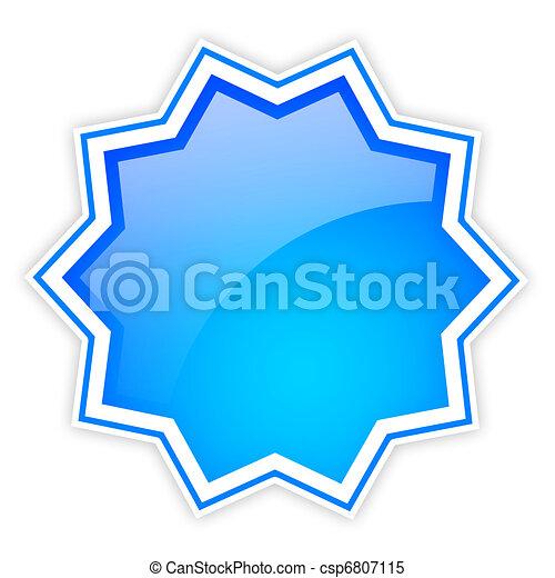 Shiny star icon - csp6807115