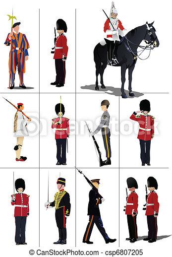 Big set of the few kinds guards.   - csp6807205