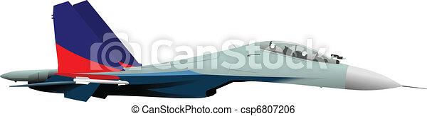 Combat aircraft. Team. Colored vec - csp6807206