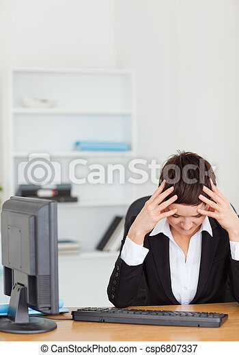 Unhappy secretary - csp6807337