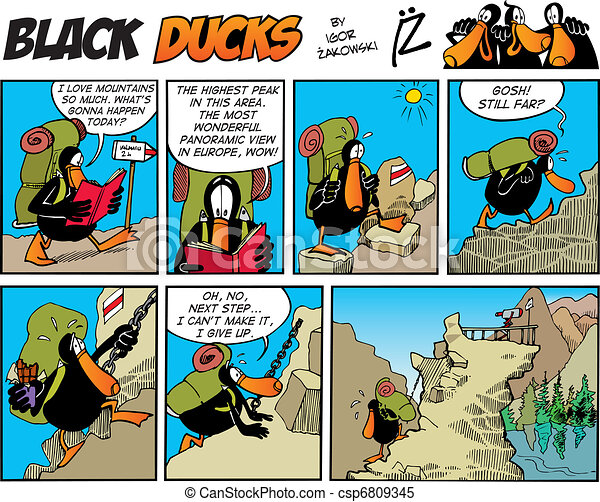 Black Ducks Comic Story episode 70 - csp6809345