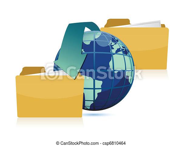 Date transferring around the world  - csp6810464