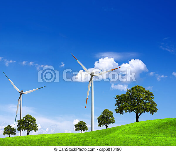 Wind energy and green nature - csp6810490