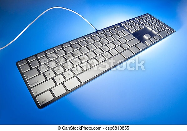 Computer keyboard in perspective - csp6810855