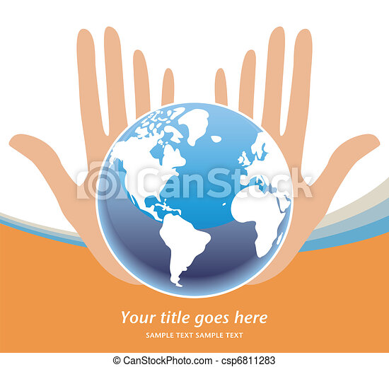 Earths future in our hands vector. - csp6811283