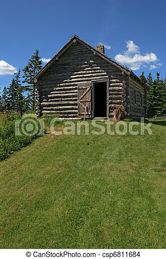 Log cabin in the woods - csp6811684