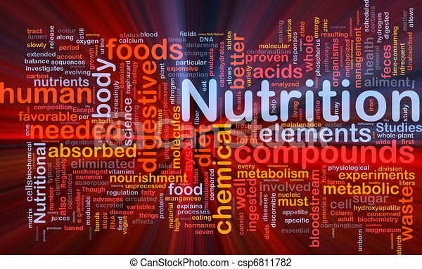 Nutrition health background concept glowing - csp6811782