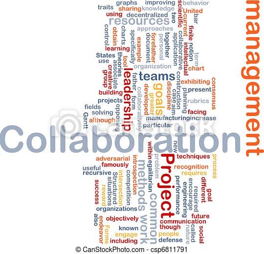 Collaboration management background concept - csp6811791