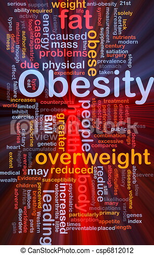 Obesity fat background concept glowing - csp6812012