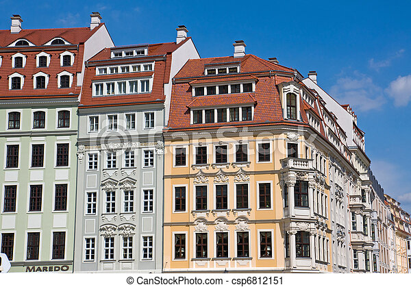 Beautiful old houses in Dresden - csp6812151