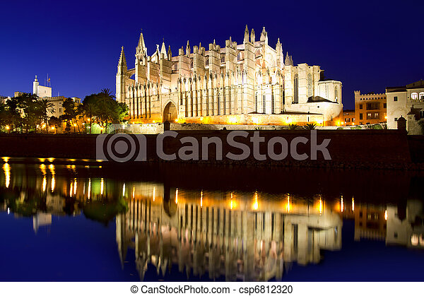 Cathedral of Majorca in Palma de Mallorca Balearic islands - csp6812320