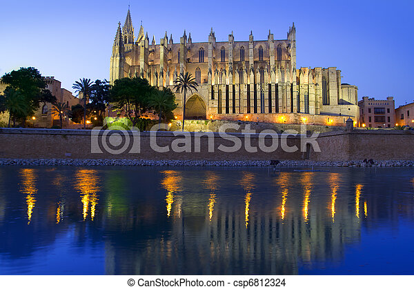 Cathedral of Majorca in Palma de Mallorca Balearic islands - csp6812324
