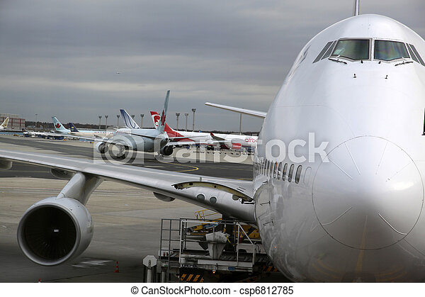 Cabina de piloto,  boeing,  747 - csp6812785