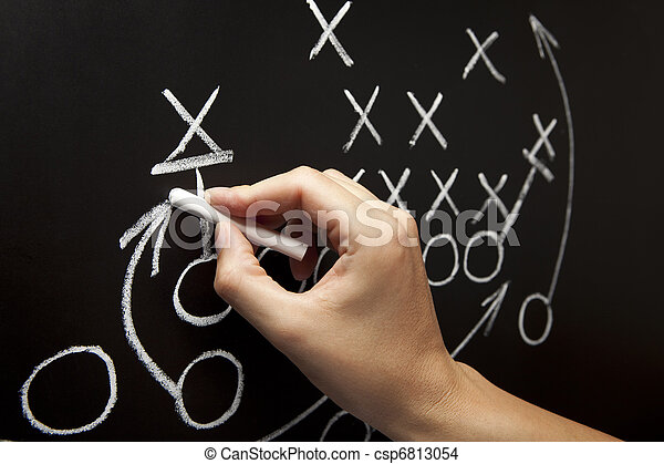 Man drawing a game strategy - csp6813054