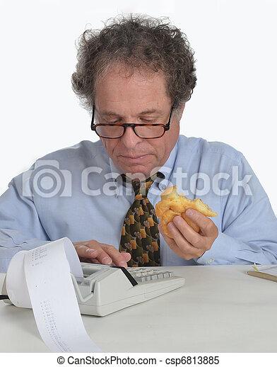 contabilidade, homem maduro - csp6813885