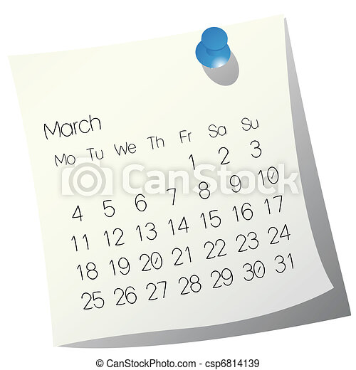 2013 March calendar - csp6814139