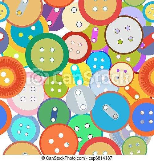 Seamless sewing buttons - csp6814187