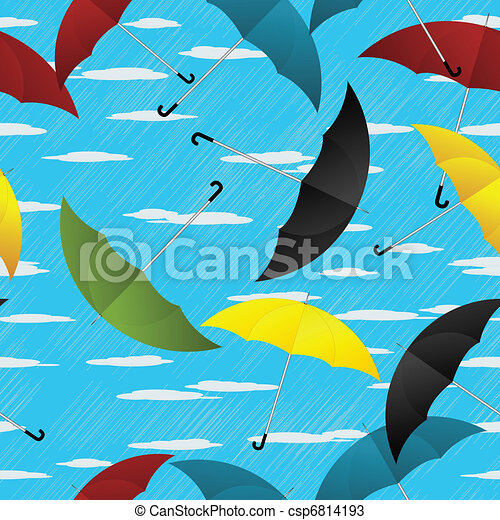 Umbrellas repeating pattern - csp6814193