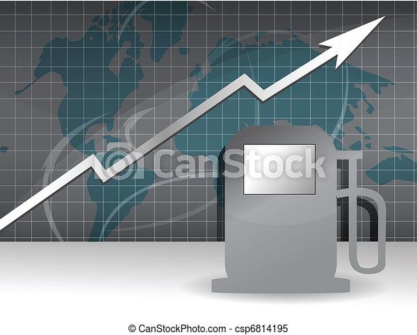 raising gas prices graph - csp6814195