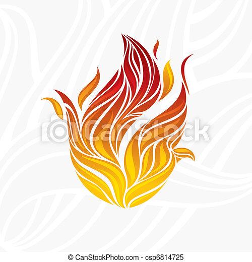 artistic fire flame - csp6814725