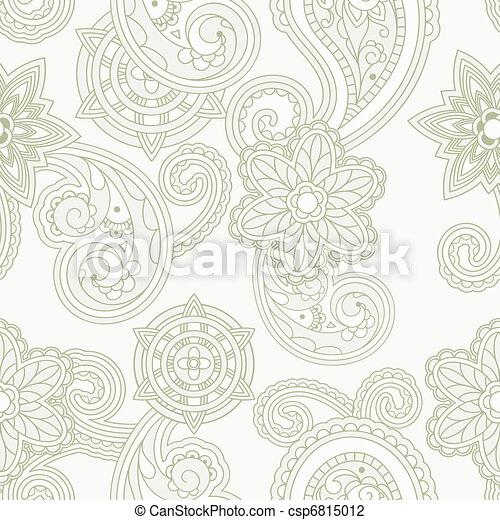 vector seamless paisley background - csp6815012