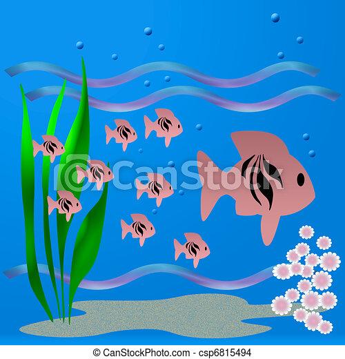 Drawing of fishy world...