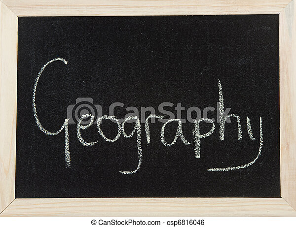 Board with GEOGRAPHY - csp6816046