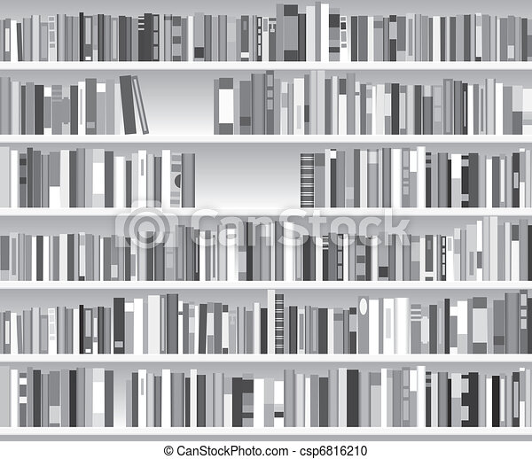 Bücherregal clipart schwarz weiß  Vektor Clipart von bücherregal, vektor, modern, abbildung - vektor ...
