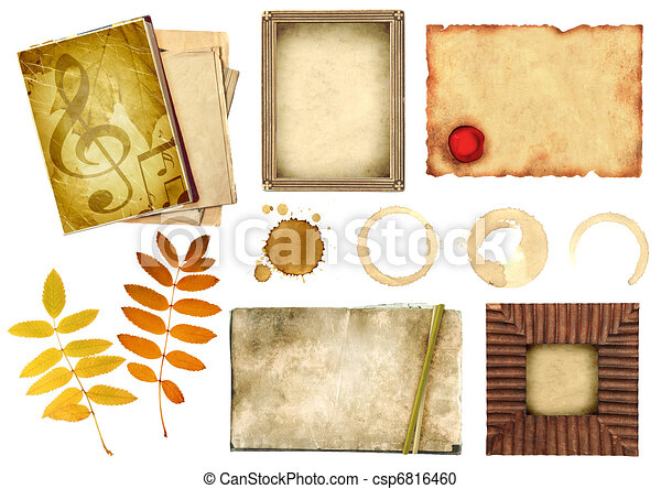 Collection elements for scrapbooking - csp6816460