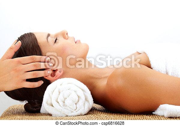 Head massage  - csp6816628