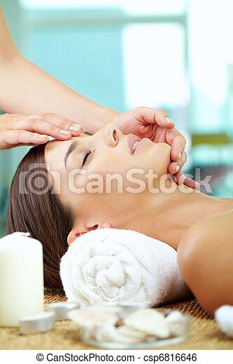 Facial at spa salon - csp6816646