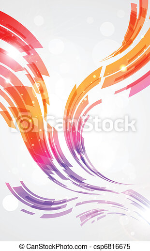 Abstract lines background  - csp6816675