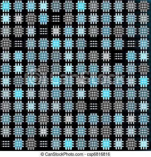 Crosshatches background black - csp6816816