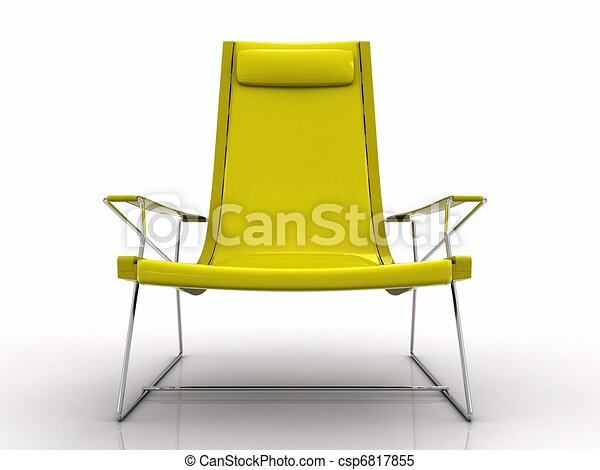 Stock illustrations of chaise longue plastic isolated for Chaise longue plastique