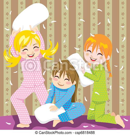Pillow fight - csp6818488
