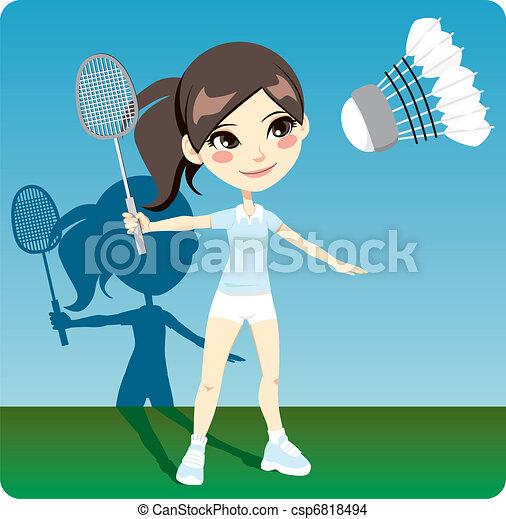 Badminton Player - csp6818494