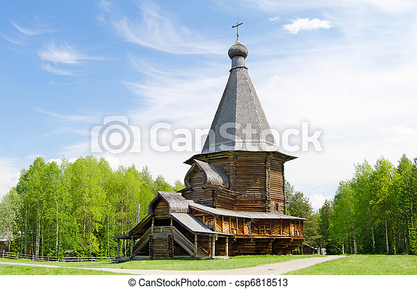 Wooden churches in the north Russia - csp6818513