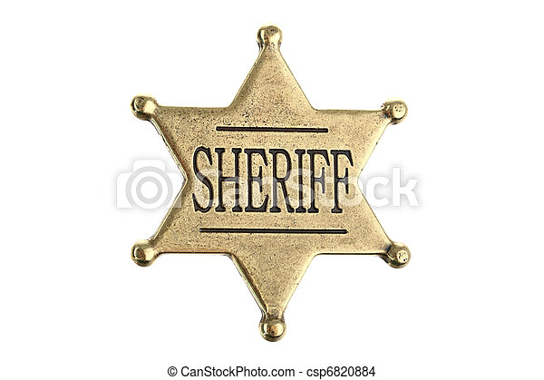 Six point sheriff star badge - csp6820884
