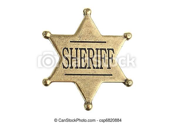 Six point sheriff star badge - csp6820884