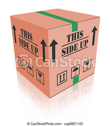 Stock Photo - this side up carboard box package - stock image, images ...: canstockphoto.com/this-side-up-carboard-box-package-6821143.html