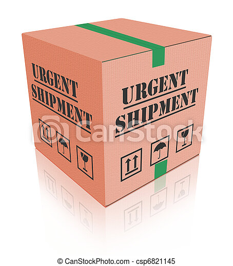 urgent shipping package cardboard box - csp6821145