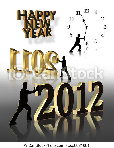 New Year 2012 Graphics - csp6821661