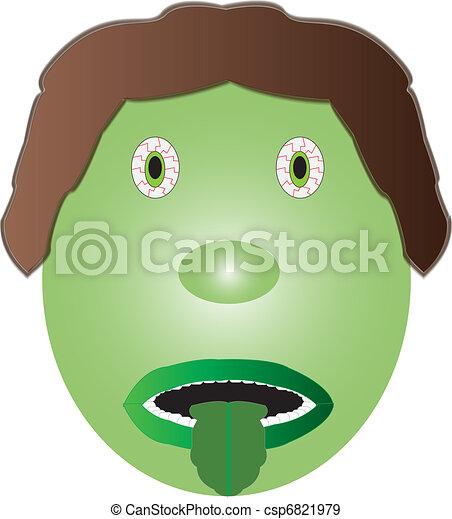 Feeling Sick Icon - csp6821979