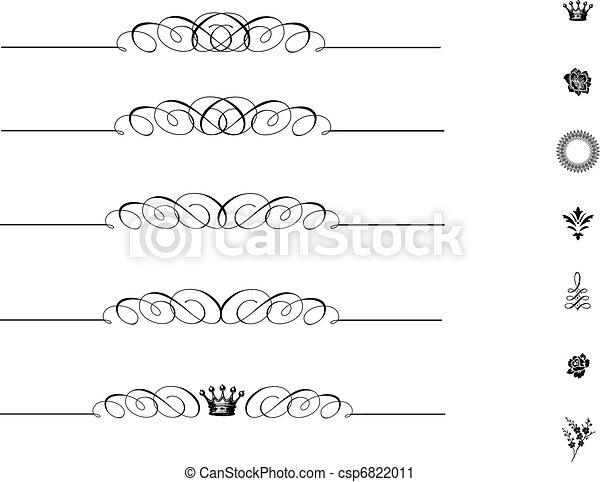 Vector Matching Swirl Ornament Set - csp6822011