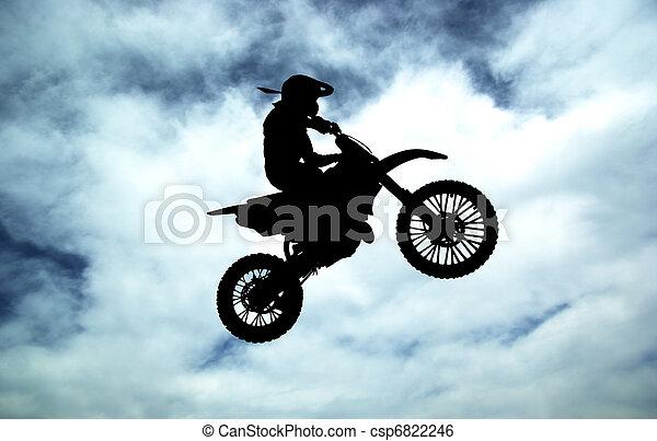 Moto racer in sky - csp6822246