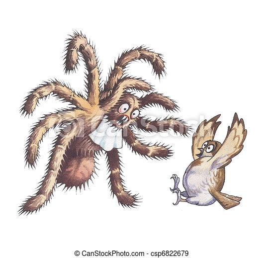 Goliath bird-eater Spider. Wolf spiders. Giant huntsman spider. The ...