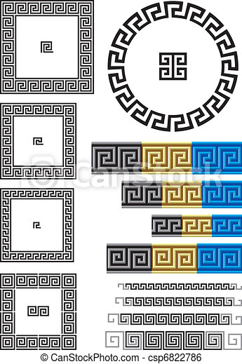 Greek key pattern - csp6822786
